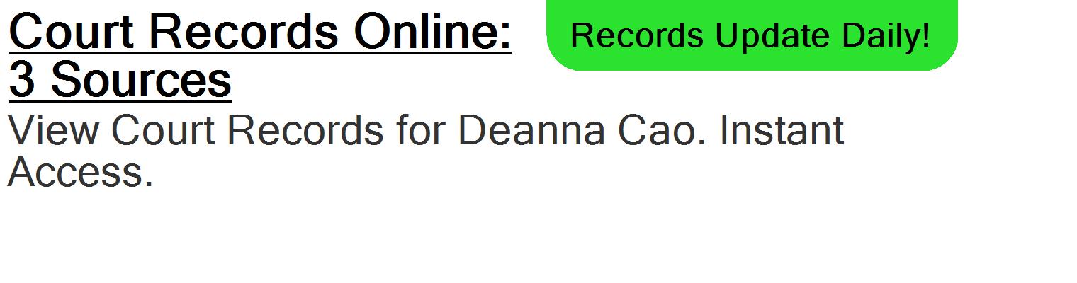 Deanna Cao - ORLANDO, FL - PublicDataDigger com